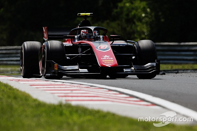 Hungary F2: Russell tops practice amid more start trouble