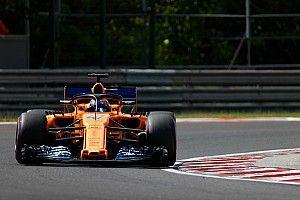 Lando Norris en essais libres avec McLaren à Spa