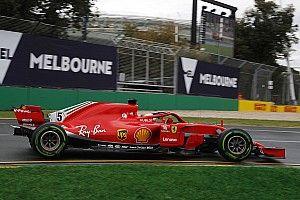 Australian GP: Vettel tops FP3 Ferrari 1-2 in drying conditions