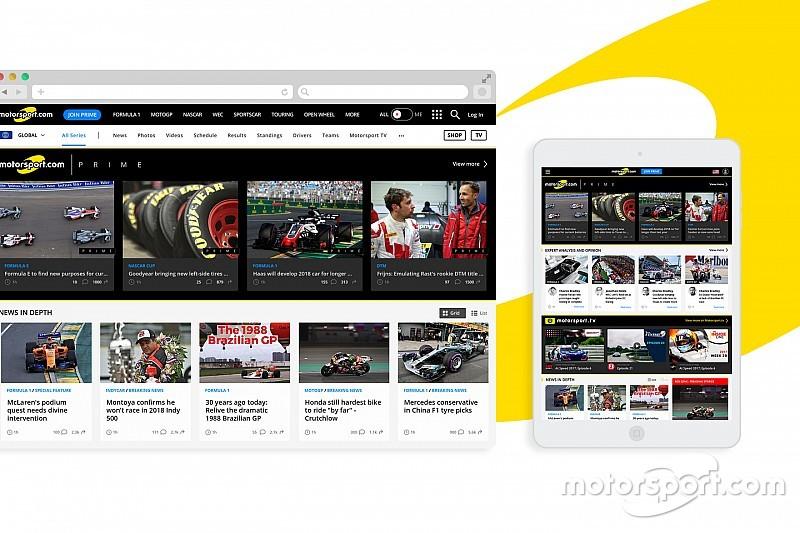 Motorsport.com cambia el diseño y las funcionalidades de su web