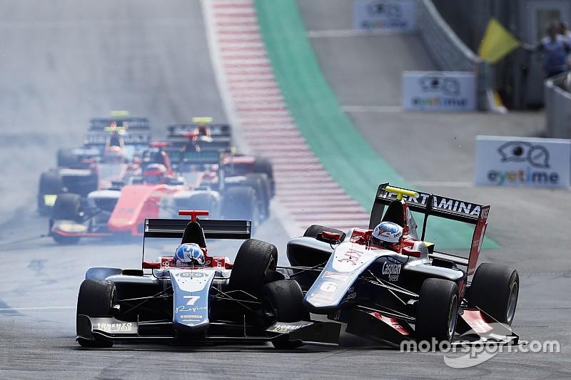 Photos - Carambolage des leaders au départ en GP3