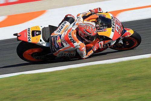 Marquez kopman in warm-up GP Valencia, Dovizioso vierde