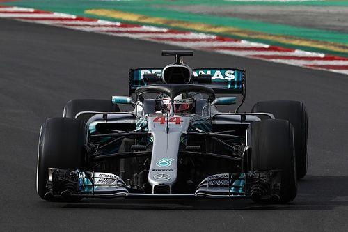 Barcelone, J4 - Hamilton signe le meilleur temps de la semaine