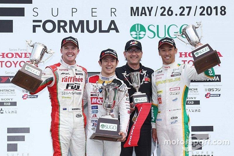 Sugo Super Formula: Yamamoto wins after botched Kobayashi stop