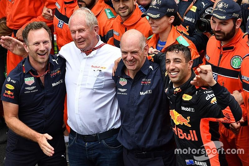 Ricciardo ganó en Mónaco con seis marchas