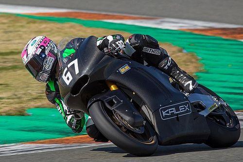 Primi giri a Valencia per la Kalex con il motore Triumph