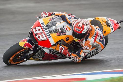 Termas, Libere 3: Marquez vola anche sul bagnato, le Ducati fuori dalla Q2