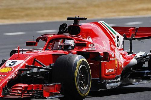 Vettel wint enerverende Britse Grand Prix, Verstappen valt uit in slotfase