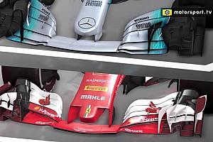 Formel 1 Analyse Analyse: Die unterschiedlichen F1-Designs von Ferrari & Mercedes