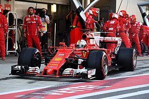 Ferrari: anche prove di partenza nel filming day con Vettel e Raikkonen
