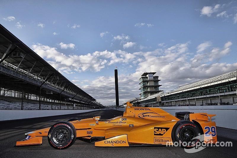 """الكشف عن ألوان سيارة """"أندريتي"""" التي سيشارك ألونسو على متنها في سباق """"إندي 500"""""""