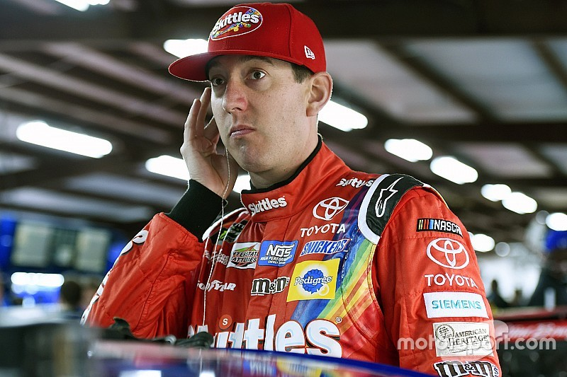 Kyle Busch tops final practice as Larson is forced into a backup car