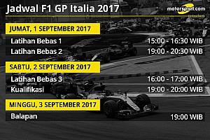 Formula 1 Preview Jadwal lengkap F1 GP Italia 2017