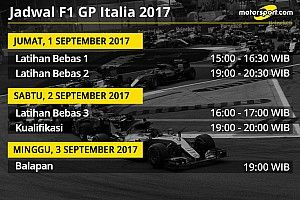 Jadwal lengkap F1 GP Italia 2017