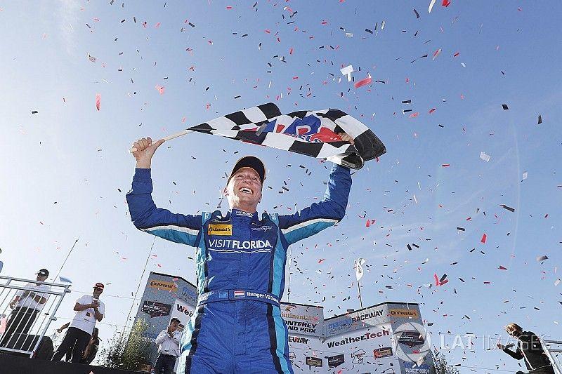 IMSA Laguna Seca: Van der Zande wint na spectaculaire inhaalactie