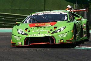 La Lamborghini di Bortolotti-Mul al comando nelle libere 2 a Misano