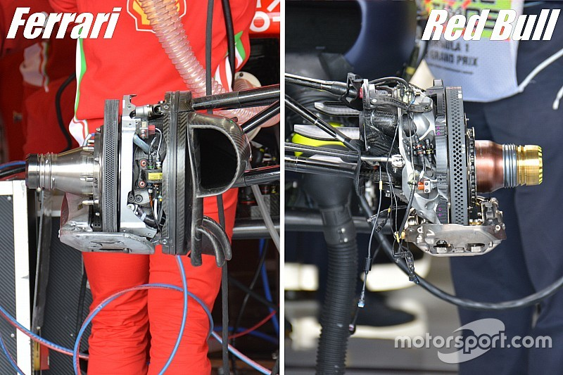 Bite-size tech: Comparing Ferrari's and Red Bull's brake set-ups