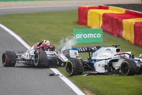 VÍDEO: Veja o acidente envolvendo Giovinazzi e Russell na Bélgica