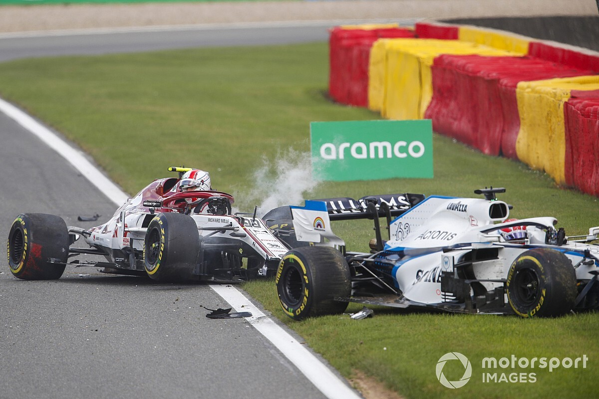 "Russell agradece al halo en el ""aterrador"" accidente de Spa"