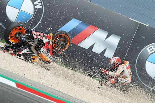 """Marquez was riding with """"stone in eye"""" after crash"""