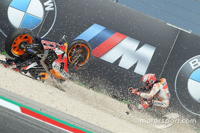 "Marquez was riding with ""stone in eye"" after crash"