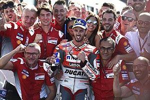 """Dovizioso kwam schreeuwend over de finish: """"Deze zege betekent veel voor Ducati"""""""