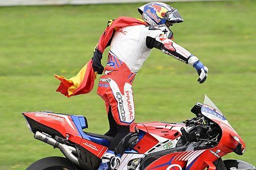 Las fotos de la accidentada carrera de MotoGP de GP de Estiria