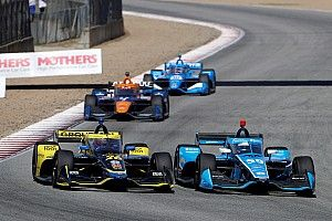 Herta in two minds over IndyCar blue flags after Laguna Seca traffic issues