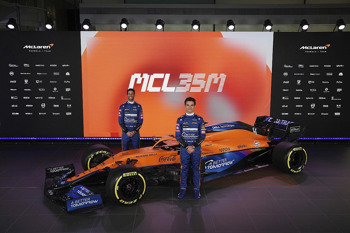 McLaren presentó su MCL35M para la Fórmula 2021