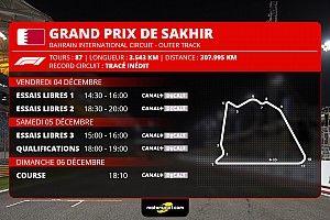 GP de Sakhir F1 - Programme TV et guide d'avant-course