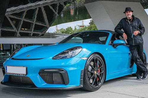 80-year-old buys his 80th Porsche, a new 718 Spyder