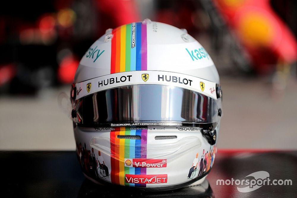 Fotos: el casco inclusivo y reivindicativo de Vettel en Turquía