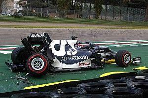 """Tsunoda got """"too excited"""" before Imola qualifying crash"""