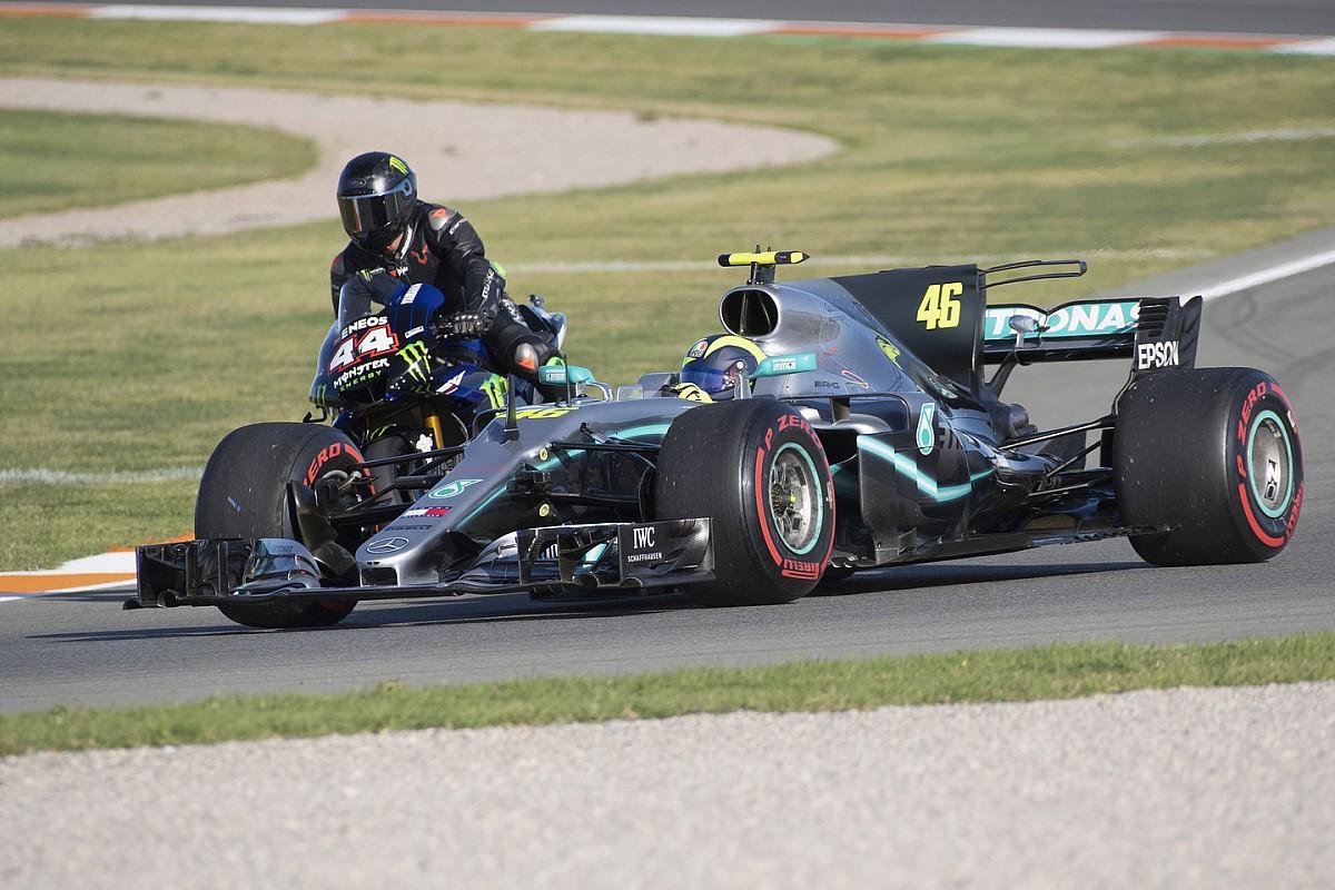 VÍDEO: Veja a volta de Valentino Rossi na Mercedes F1 de Hamilton