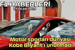 Video: Motor sporları dünyası Kobe Bryant'ı unutmadı - 27 Ocak Pazartesi F1 ve Motor Sporları Haberleri