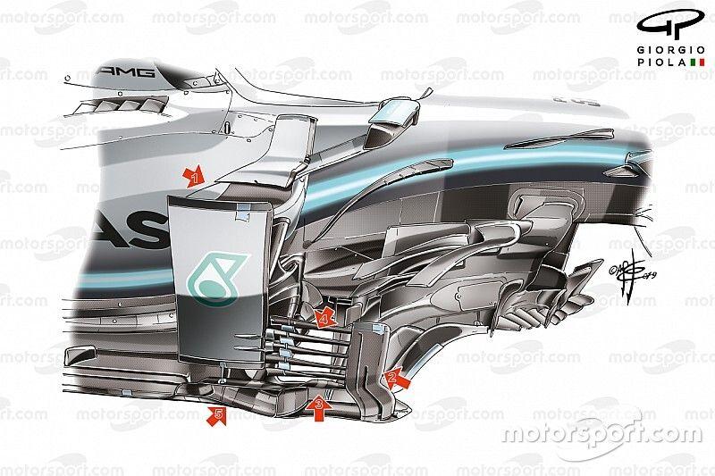 Técnica: cómo Mercedes contraatacó en Suzuka