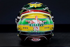 Hamilton estrena casco en el GP de Brasil homenaje a Senna