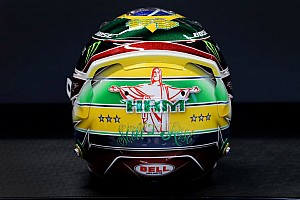 Hamilton reveals latest Senna tribute helmet