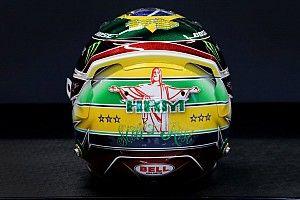 Hamilton estrena casco en el GP de Brasil homenaje a Senna