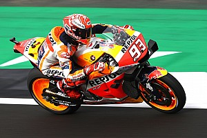 Silverstone MotoGP: Marquez beats Rossi to pole