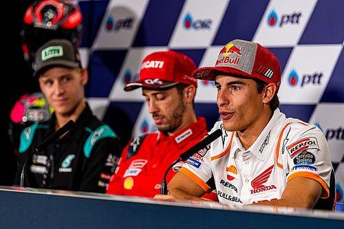 """Márquez nega festa antecipada por título na Tailândia: """"Não sei e não quero saber de nada"""""""
