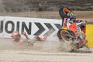 "Marquez took ""very big"" Aragon practice crash risk"