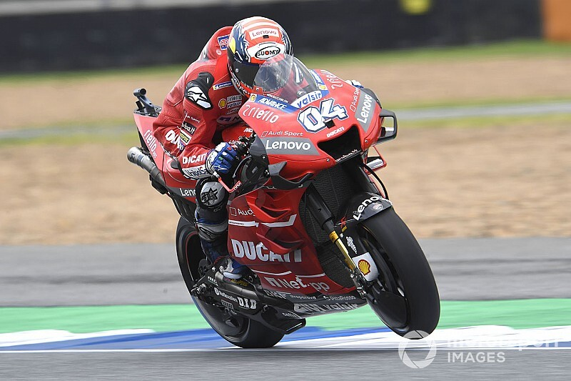 Dovizioso snelste in vochtige derde training GP van Thailand