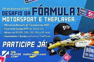 Fantasy ThePlayer Motorsport.com abre mercados para GP da Áustria com prêmios inéditos