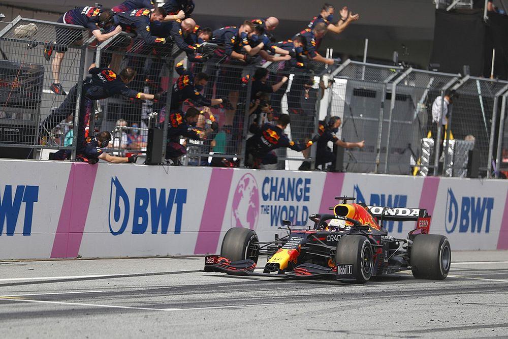 F1オーストリアGP決勝:フェルスタッペンが制圧! レッドブル・ホンダが5連勝、角田はペナルティに泣き12位