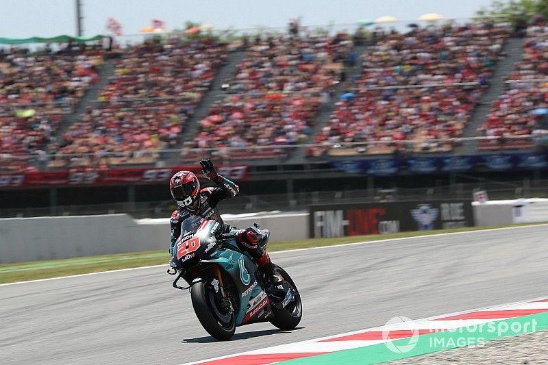 Quartararo lidera el warm up por delante de Márquez