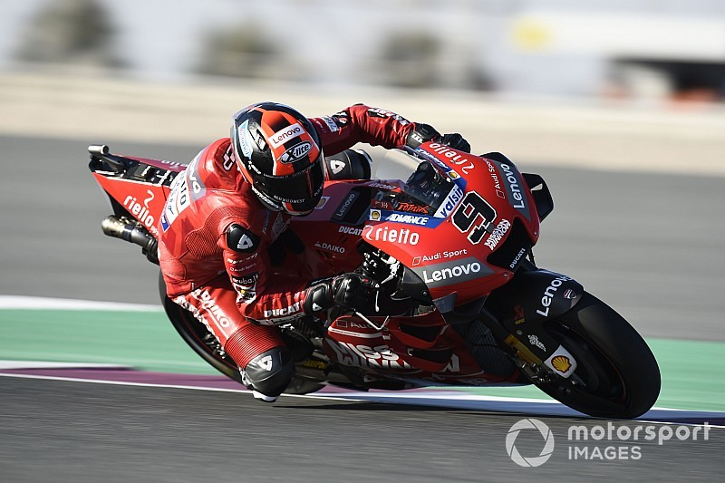 Qatar MotoGP: Petrucci leads Marquez in warm-up