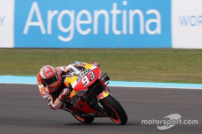 MotoGP Argentinien FT1: Marquez dominiert, Rossi fehlt eine Sekunde