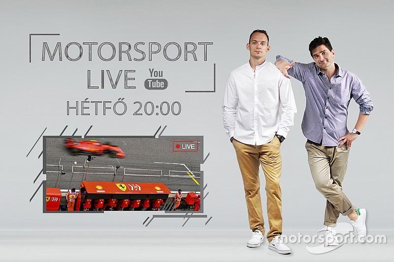 ÉLŐ F1-ES MŰSOR: Megint tarolt a Mercedes, egyre nagyobb bajban a Ferrari... (LIVE)