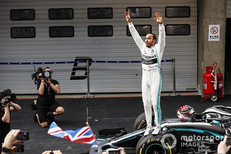 WK-stand na GP China: Hamilton neemt over van Bottas